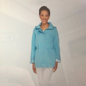 Dennis Basso water resistant Anorak. Size M.